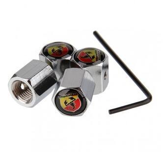 Hot Sales 4pcs Car Anti-Theft Lockable Tire Wheel Rims Stem Air Valve Caps Trye Valve Covers For ABARTH