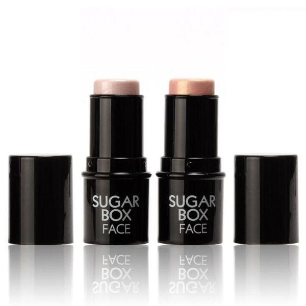 Brand Sugar box Face Makeup Highlighter Stick Shimmer Highlighting Powder Creamy Texture Silver Golden Shimmer Light Sugarbox DHL