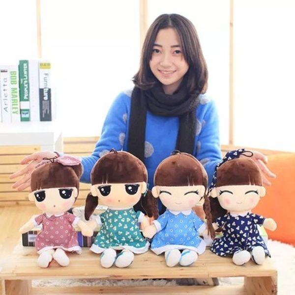 1 piece 2016 new style small girl plush toys LOVELY Living Doll kids toys birthday gift for children girl gift pillow