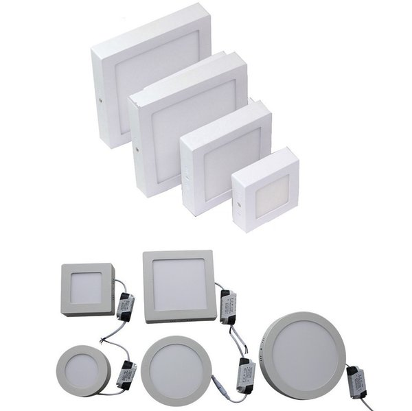 9W 15W 25W Surface Mounted Led Panel Lights Dimmable Led Downlights Bathroom Kitchen Lighting AC 110-240V + Drivers