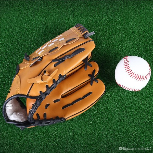 Outdoor Sports Brown Baseball Glove Softball Practice Equipment Size 10.5/11.5/12.5 Left Hand for Adult Man Woman Training +B