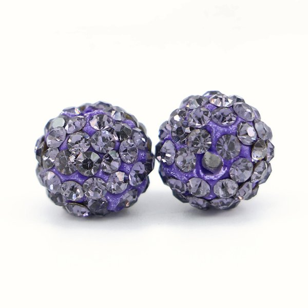 Crystal Rhinestones Pave Clay Spacer Ball Beads Full Drilled 6 Rows Rhinestone Ploymer Clay Disco Ball Beads 100pcs/bag