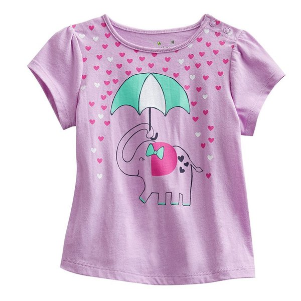 Pink elephant girls t-shirts short sleeved tee shirts children's tee shirt outfits kids clothes boys jersey jacket 360pcs/lot