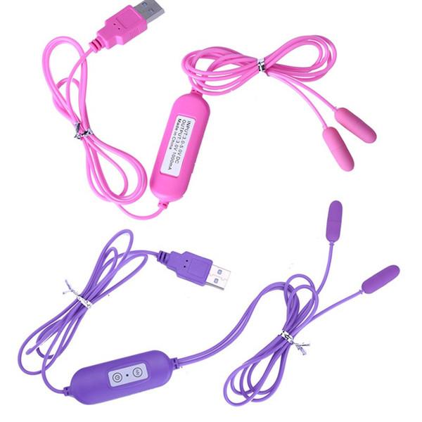 Cabezas dobles USB Catéteres de pared uretral Suena sonidos uretrales Plug uretral Jump Vibradores de huevo Masturbación Huevo juguete sexual para hombres A1-2-13