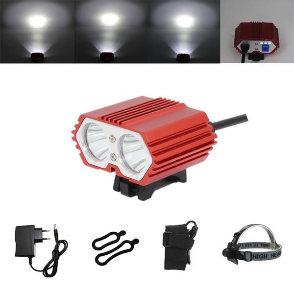 KC FIRE New 12000mAh Battery 5000 Lumens 2x XM-L U2 LED Cycling Bike Bicycle Light Led Lamp HeadLight Headlamp & Rear Light
