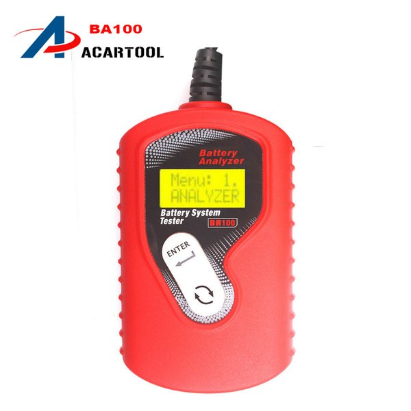 Free Shipping New Arrival QUICKLYNKS BA100 Vehicle Battery Analyzer Automotive 12V Battery Tester Car Battery Test