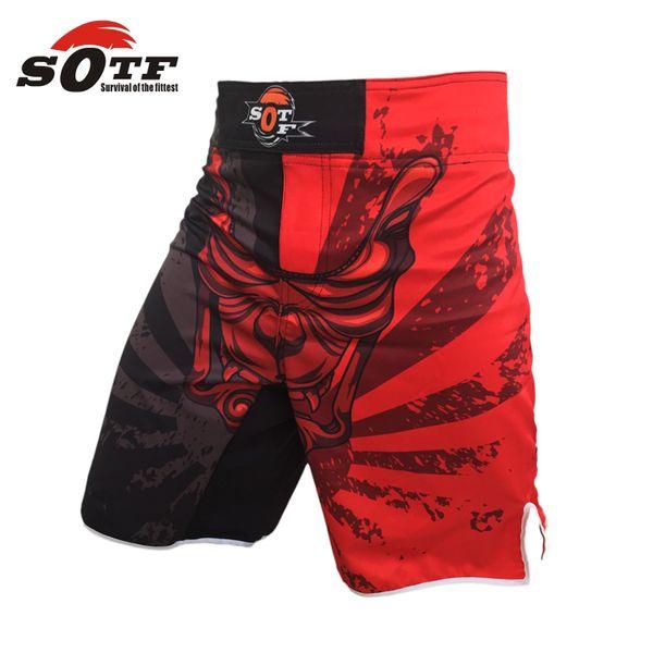 Suotf Mma Big Eyes Red Blue Boxing Shorts Sanda Loose Muay Thai Boxing Shorts Mma Pants Cheap Shorts Pretorian Muay Clothing
