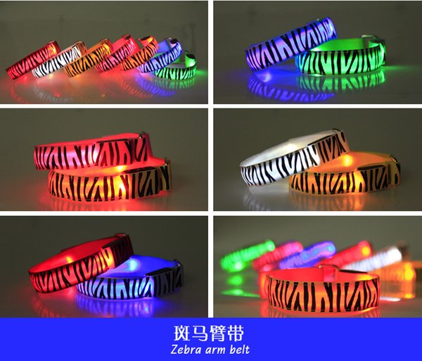 Hot 21 colors Led Arm band Safety Reflective Belt strap Snap Wrap Wrist Ankle Armband for Outdoor Sports YC2104