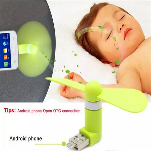 Tragbares Telefon Mini-Lüfter Lüfter Leichtes Tragen für Iphone Smartphones