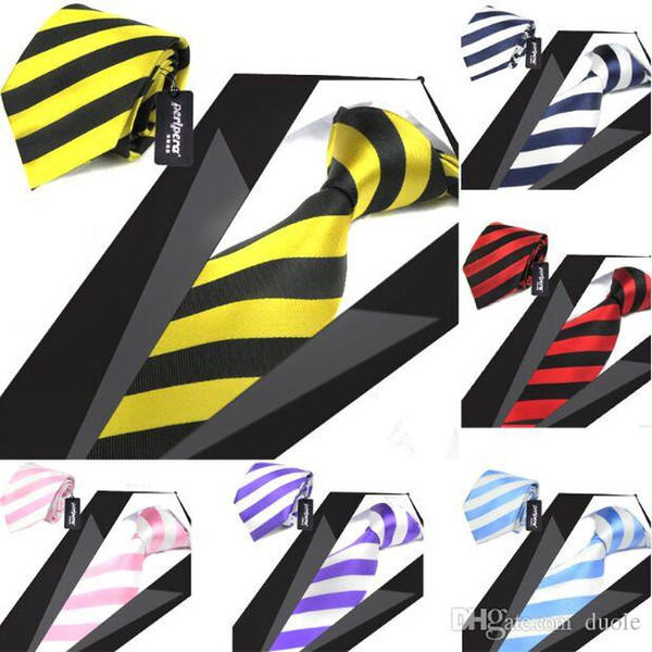 Stripe necktie 145*8.5cm 12 colors 1200`Knitted for Men's Wedding Party Father's Day Christmas gift Free TNT Fedex