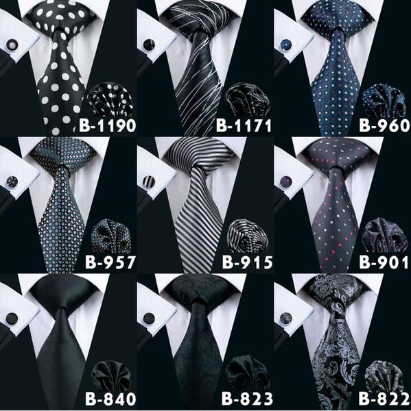 Cravatta nera da uomo Cravatta da uomo nera Cravatta da uomo Cravatta di seta di alta qualità per cravatta di marca da uomo