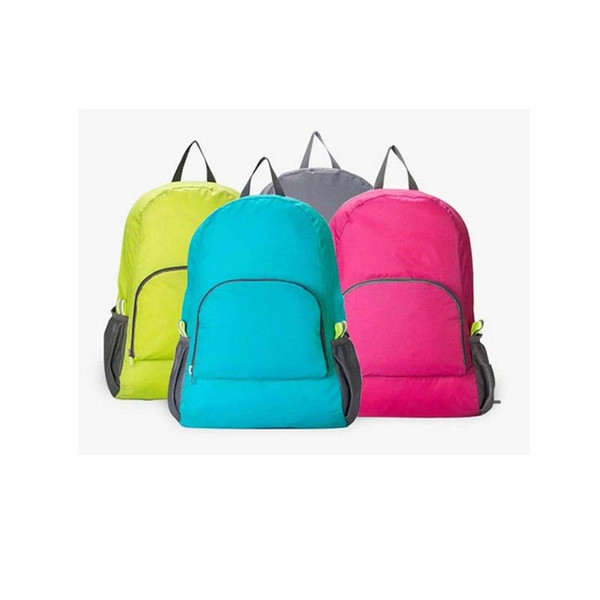New Casual Fashion Folding Outdoor Sports Travel Simple Lightweight Hiking Waterproof Gift Solid Polyester Unisex Storage Backpack for Sale