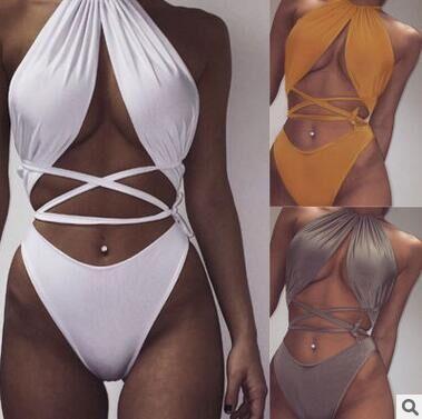 d29b73debf 2016 New arrival Sexy Fashion Summer Halter Bikini Set Beach Women Swimwear  New bandage Design Lady