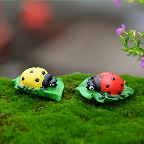6pcs Animal Stones Statues Resin Crafts Fairy Garden Miniatures Succulent Gnomes Bonsai Tools terrarium Figurines Ornament Jardin Gnomes DIY