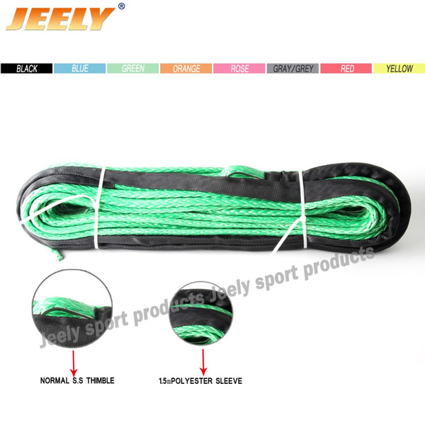 """Wholesale-Black 5/16""""*100ft 8mm*30m Synthetic Rope,ATV UTV Winch Line for 4wd Parts, Winch Cable"""