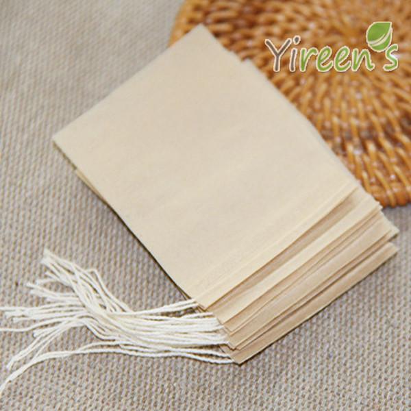 ¡Envío gratis! 1000 unids / lote 50 X 70 mm Color marrón papel de filtro sin blanquear bolsa de té Filtros de té desechables Bolsas bolsas de té, bolsas de café
