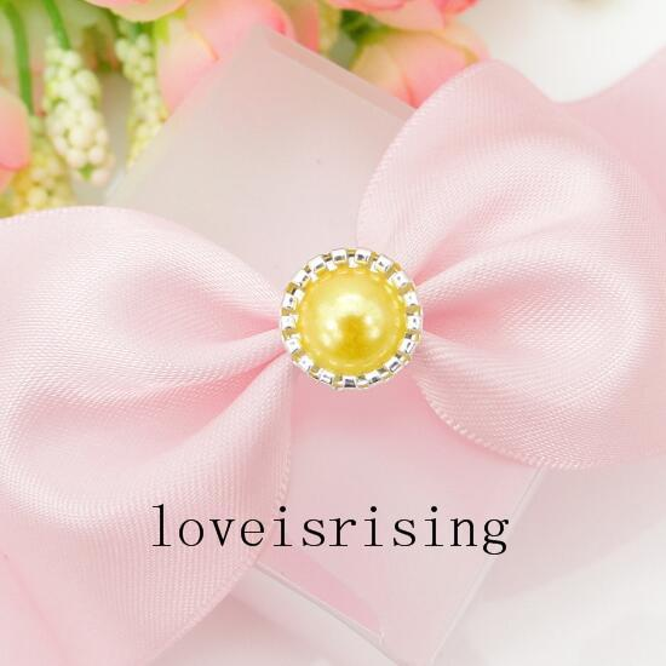 Tracking Number--100pcs Pearl Brads Paper Fastener for Scrapbooking wedding favor box DIY card making DIY Craft Supplies