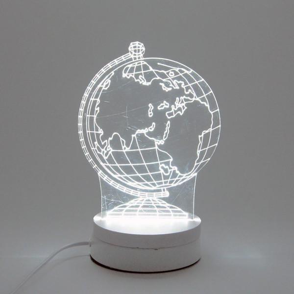 6W Earth LED Night Light AC220V Input DIY Table Lamp Laser Engraving Multi-Choice Pattern(3-Color/pcs) on Acrylic 3D Creative Light