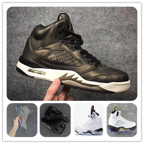 Cheap 5s v METALLIC CAMO HEIRESS Premium Bordeaux white cement Basketball Shoes 5 V Mens Sports Shoes Mens Athletics Boots Trainers Sneakers