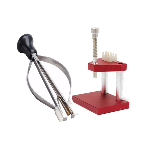 best selling Wholesale-Hot Sale Hand Presto Presser Press + Lifter Puller Plunger Remover Watch Repair Tools Kit For Watchmaker