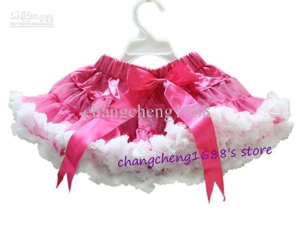 hot pink / white Ribbon