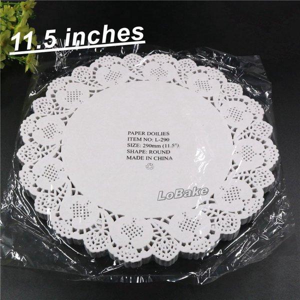 2019 Wholesale Pack New 11 5 Inches Round Flower Shape White Hollow Design Paper Lace Doilies Placemat For Kitchen Set De Table From Starch 50 72