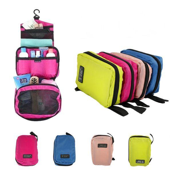 Travel Mate Bag Cosmetic Bags Storage Pouch Purse Travel Cosmetic Bag Organizer Handbag Nylon Dual Zipper Makeup Bags