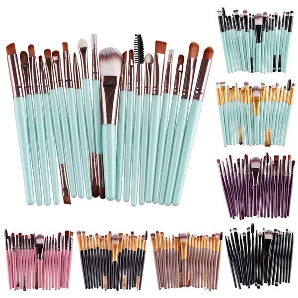 20 Pcs Maquiagem Cosméticos Pincéis Definir Pó Foundation Sombra Delineador Lip Brush Tool Marca Make Up Brushes Ferramentas de Beleza Pincel F469