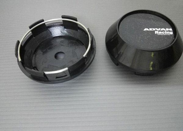 68mm 65mm Silver Black Japan Rays Volk Sticker Wheel