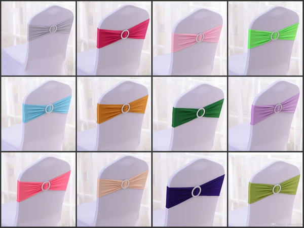200 Tiffany Blue Spandex Chair Sash Lycra band With Buckle For Wedding Free Shipping/stretch banquet chair bands/lycra elastic chair bow