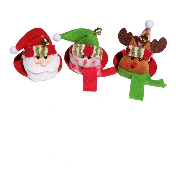 4pcs santa claus red wine glass Coaster goblet Pad party Home Table christmas Decoration Coffee Drink Placemat Cup Mat