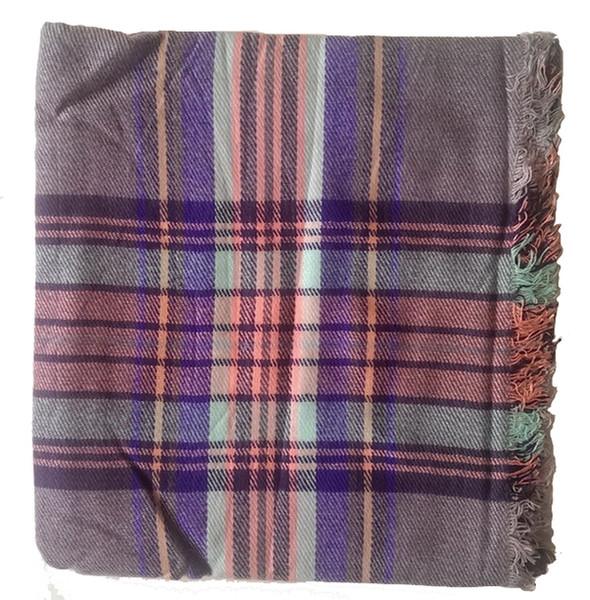 아기 담요 아크릴 격자 무늬 목도리 짠 스카프 hotselling 체크 스카프와 영국 스타일 스카프 겨울 스카프 겨울 목도리