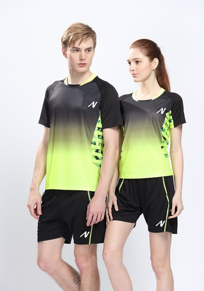 Badminton jersey badminton tennis jersey,Badminton shirts casual sportswear style Table tennis badminton volleyball T-shirt+shorts Couples