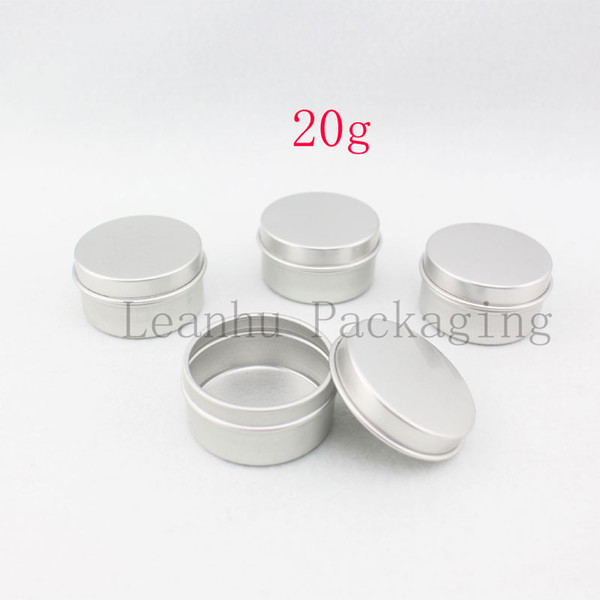 20g X 100 empty skin care cream aluminum containers, empty ointments metal tin , silver cream aluminum jar bottles, cream can