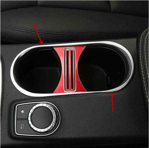 2019 Interior Console Water Cup Frame Decorative Cover Trim For