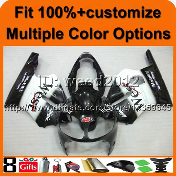 23colors+8Gifts cover WEST BLACK ABS cowling ZX12R 2000 2001 motorcycle Fairing Set for Kawasaki Ninja