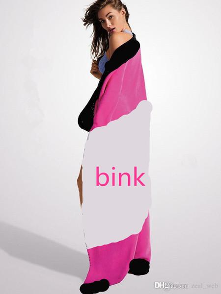 top popular 2020 new Fashion 100% Cotton Large Size Pink color Blanket Towel female 130*150CM Towel  Cotton Washcloth Swimwear Blanket 2019