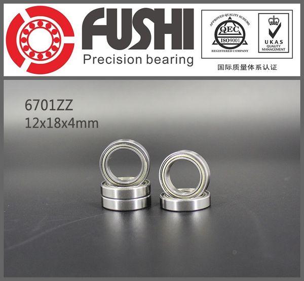 los rodamientos de bolas 10 x 6701 ZZ 12 x 18 x 4 mm miniatura rodamientos radiales rodamientos rígidos de bolas