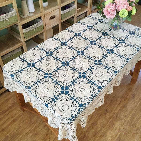 New Arrival ~ New crochet pattern table cover oblong, hand crochet table topper, rectangular tablecloth, handmade table linen for home decor