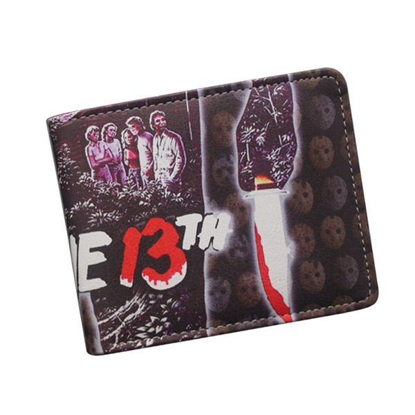 Wholesale Leather Wallets FRIDAY THE 13TH / FREDDY'S NIGHTMARES / SAW Wallet Retro Men Women Terror Ghost Movies Wallet Purse Free Shipping