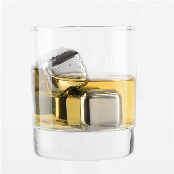 Wine Ice Cubes,Stainless Steel Reusable Whiskey Stones,Best Whiskey Chiller,Whisky Chilling Rocks,Drinks Cooler Cubes Case Packing by DHL