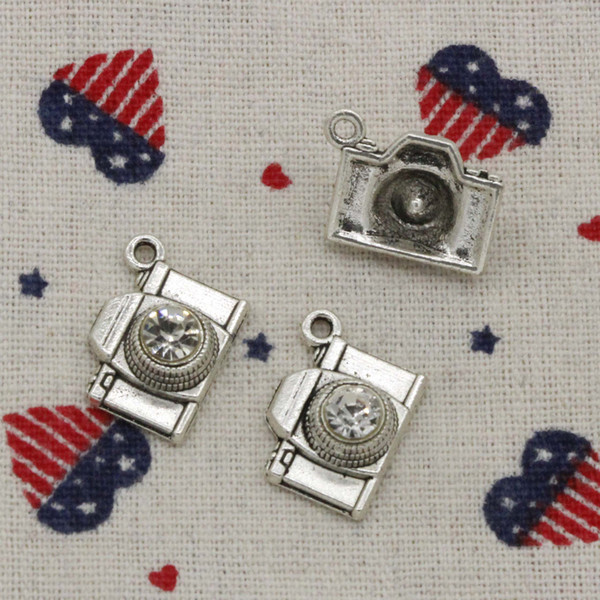51pcs Charms camera 20*16mm Antique Silver/Bronze Pendant Zinc Alloy Jewelry DIY Hand Made Bracelet Necklace Fitting