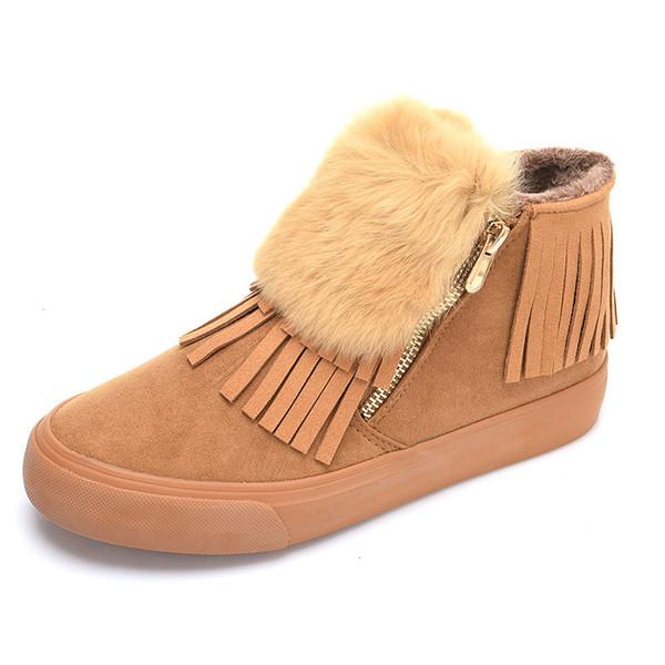 2017 Fashion Plus , Velvet Snow Boots Winter Warm Black Women Boots, Canvas Side zipper Shoes Women