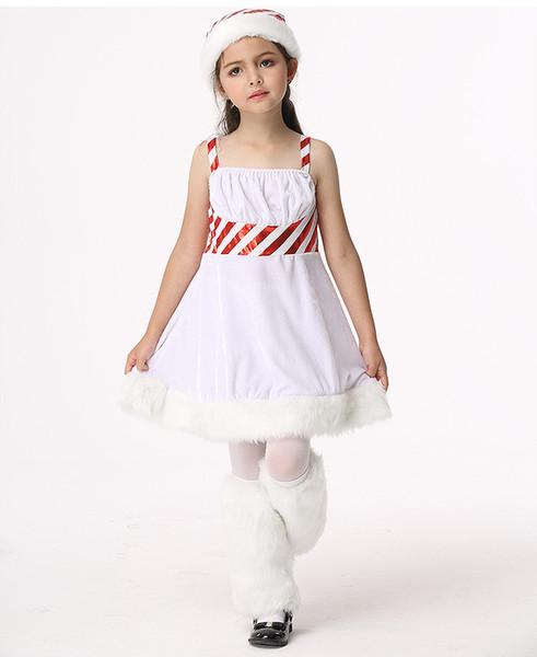 Wholesale Hot Kid Women Christmas Dress Sexy Christmas Costumes Santa Claus for Adults White Princess Uniform Kimono Xmas Costume Free Ship