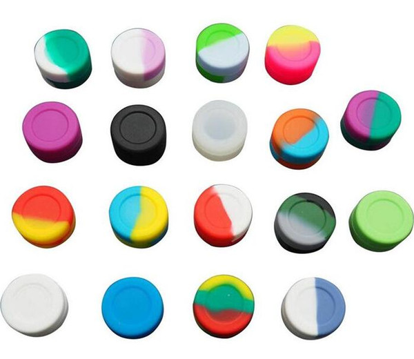top popular Cheapest ever! Rich color 2mL 3mL 5mL 7mL 11mL round Non-stick Silicone Jar Dab Wax Containers For Wax Silicone Jars dab silicone container 2021