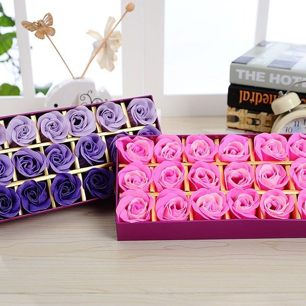 The Rose Band Fragrance Soap Flower Make A Proposal Artificial Flowers Square Gift Box Romantic Creative Valentine's Day Gift