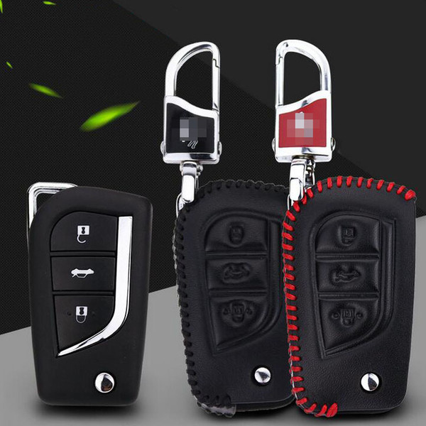Premium Leather Remote Key Holder Fob Case Cover For Toyota Camry 2015-2016 Free Shipping