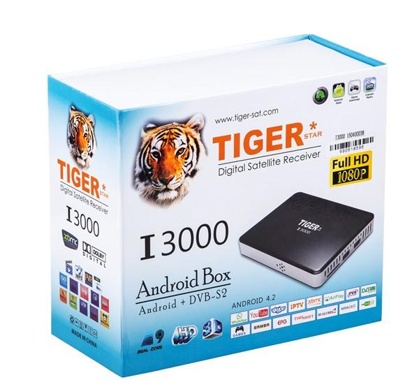 Arabic HD Satellite TV Receiver Android Tv Bein Sport Tiger I3000 Android  Dvb S2 Arabic Iptv Box With Free Arabic Channels Good Projectors Mobile
