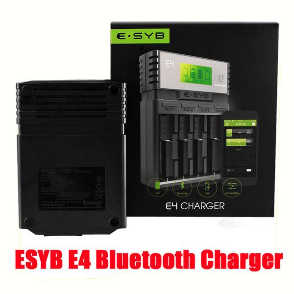 Auténtico cargador de batería inteligente ESYB E4 de 4 bahías Cargador de batería inteligente 18650/18350/14500/26650 con pantalla LCDD DHL gratuito FJ702