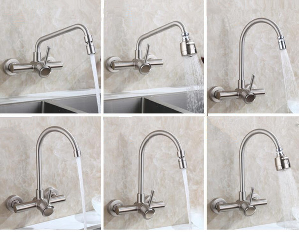 Super 2019 Modern Bathroom Wall Mounted Kitchen Sink Faucet Swivel Spout Sprayer Mixer Stainless Steel 304 Brushed Nickel Basin Tap Single Handle From Complete Home Design Collection Epsylindsey Bellcom